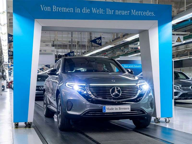 Démarrage de la vente et de la production du Mercedes-Benz EQC