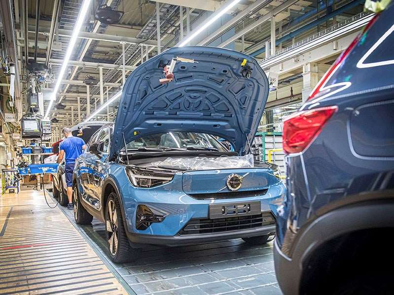 Volvo Cars begint met de productie van de C40 Recharge in Gent